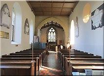 ST5707 : Parish church of St. Osmond, interior looking east by Jonathan Thacker