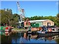 SJ8934 : Canal boatyard by John M