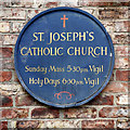 SE4557 : St Joseph's Catholic Church (detail) by David Dixon