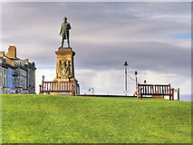 NZ8911 : Captain Cook Statue, Whitby by David Dixon