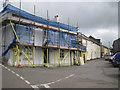 SX8050 : Former pub and a view east along Chapel Street, Blackawton by Robin Stott