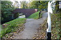 SK8833 : National Cycle Network Milepost along the towpath by Mat Fascione