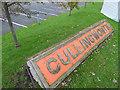 SE0636 : Old LNER station name board, Cullingworth  by Stephen Craven