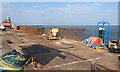 SX9372 : Engineering work at The Point car park, Teignmouth by Robin Stott