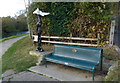 SK8435 : Seat and milepost along the Grantham Canal towpath by Mat Fascione