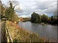 NZ8809 : River Esk Above the Weir at Ruswarp by David Dixon