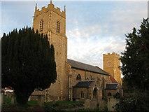 TG1022 : Three Churches in one Churchyard, Reepham by G Laird
