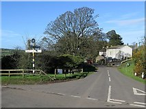 NY2436 : Crossroads, Uldale by Andrew Curtis