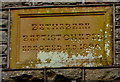 ST0090 : Year stone in the wall of Bethabara Baptist Chapel, Williamstown by Jaggery