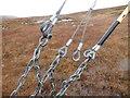 NC4312 : Cable stays below Beinn Sgeireach, Glen Cassley by ian shiell
