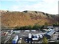SD9419 : Quarry tracks on the hillside below Light Hazzles Quarry, Littleborough by Humphrey Bolton