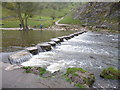 SK1551 : The stepping stones in Dovedale by Marathon
