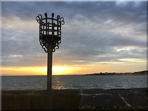 NT4999 : Elie harbour beacon at sunset by Graham Hogg