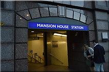 TQ3280 : Mansion House Underground Stion by N Chadwick