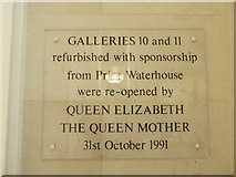 TA0928 : Commemorative plaque at Ferens Art Gallery by Basher Eyre