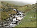 NY4212 : Hydro electric scheme water intake, Hayeswater Gill by Graham Robson