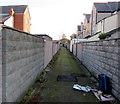 SJ0080 : Back lane from Seabank Road, Rhyl by Jaggery