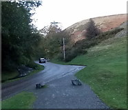 SO4494 : Bend in the road, Carding Mill Valley, Church Stretton by Jaggery