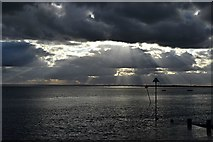 TQ8485 : Clouds over the Thames estuary by John Myers