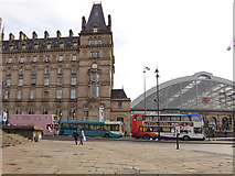 SJ3490 : Colourful Liverpool buses by Stephen Craven