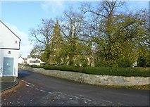 SK3030 : Findern churchyard wall by Alan Murray-Rust