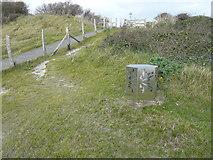 TR3341 : Sculpture B, Saxon Shore Way/White Cliffs County Trail by John Baker