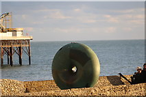 TQ3103 : Doughnut Sculpture, Brighton,  East Sussex by Christine Matthews