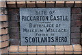NS4236 : Riccarton Castle Name Plaque by Billy McCrorie