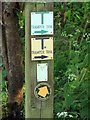 SD3642 : Signpost in the Wyre Estuary Country Park by Steve Daniels