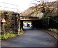 SO2001 : Southwest side of a low railway bridge in Aberbeeg by Jaggery