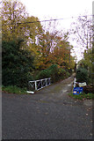 TM3569 : Lover's Lane Footpath & entrance to Lane House by Geographer