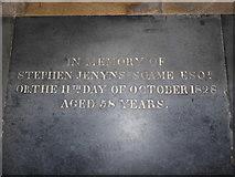 TA0339 : Beverley Minster: ledger slab (n) by Basher Eyre