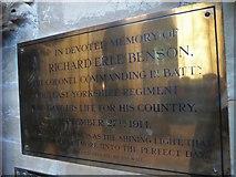 TA0339 : Beverley Minster: memorial (15) by Basher Eyre