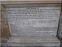 TA0339 : Beverley Minster: memorial (39) by Basher Eyre