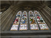 TA0339 : Beverley Minster: stained glass window (IV) by Basher Eyre