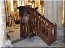 TA0339 : Beverley Minster: pulpit by Basher Eyre