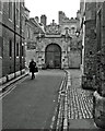 TL4458 : Trinity Lane and Nevile's Gate by John Sutton