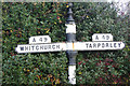 SJ5657 : Signpost in Bunbury by Stephen McKay