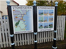 NO8686 : Stonehaven: Orientation Point and Attractions by Stanley Howe