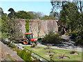 NX0942 : The wall across the walled garden, Logan Botanic Garden by Humphrey Bolton