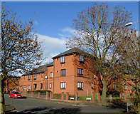 SO9596 : Apartments east of Bilston town centre, Wolverhampton by Roger  Kidd