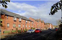 SO9596 : Modern housing in Queen Street, Bilston, Wolverhampton by Roger  Kidd