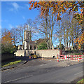 TL6265 : Exning: road works on Church Street by John Sutton