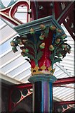 SO7845 : Decorated column capital, Gt. Malvern Station by Martin Tester