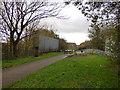 SJ3697 : Former railway bridge at Aintree by Stephen Craven