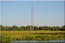 SP4509 : Pylon by the River Thames by N Chadwick