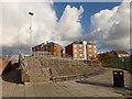 SJ3496 : New canal footbridge at Orrell - detail by Stephen Craven