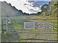 SY9184 : East Holme, warning signs by Mike Faherty