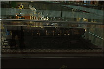 TQ3083 : View of a steam engine made of Belgian chocolate in St. Pancras Station by Robert Lamb