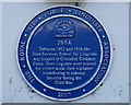 TQ3156 : Blue Plaque at The Fox by Peter Trimming